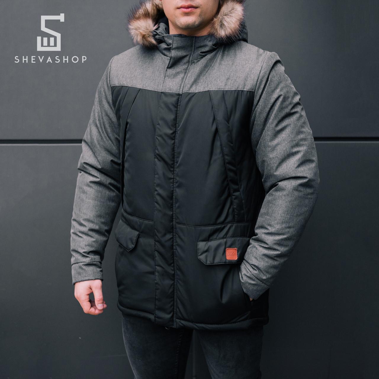 Зимняя мужская куртка Pobedov Alaska серая, фото 1
