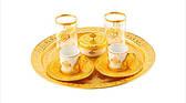 Набор чашек для кофе Романс золотистый на 2 персоны