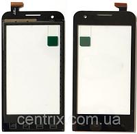 Тачскрин (сенсор) для Prestigio PAP4040 DUO MultiPhone, черный