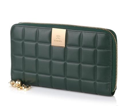 Кошелек на молнии Chanel 1684 Green