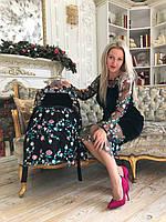 Мега шикарный набор платьев мамадочка Familylook из бархата и кружева