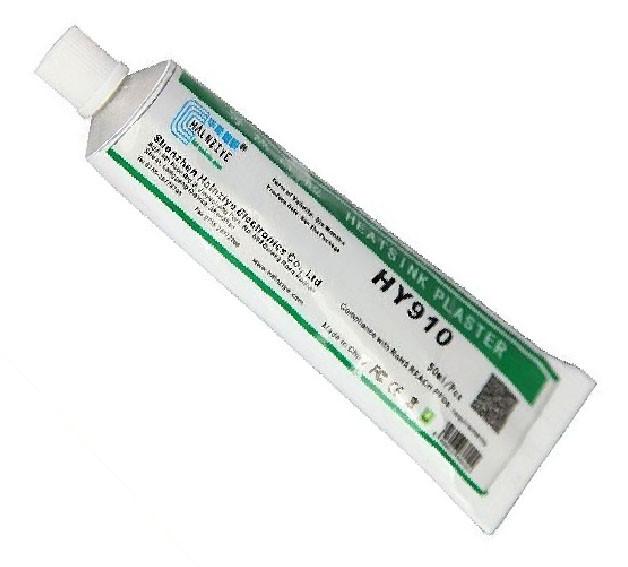 Теплопроводящий клей Halnziye HY910 80г белый 0.975 Вт/(м*К) (TPkl-HY910-ST80G)