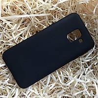 Чехол силиконовый Soft touch для Samsung A6, Black