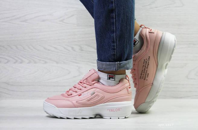 Зимние женские кроссовки розовые, фото 2