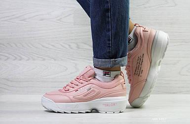 Зимние женские кроссовки розовые
