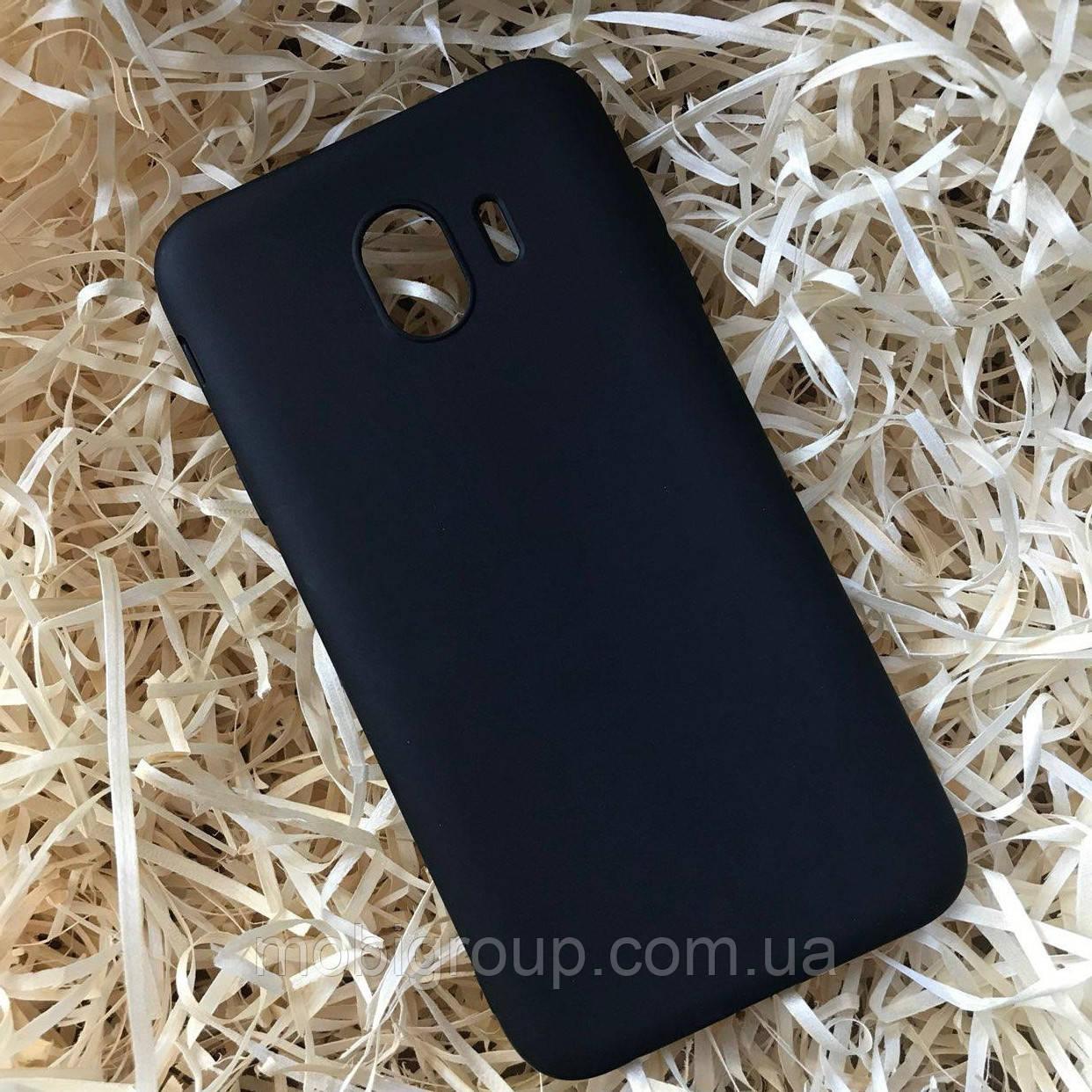 Чехол силиконовый Soft touch для Samsung J4, Black