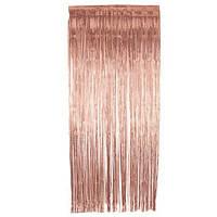 Занавес из фольги для оформления 1x3 м розовое золото
