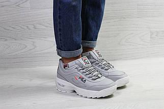 Зимние женские кроссовки серые, фото 3