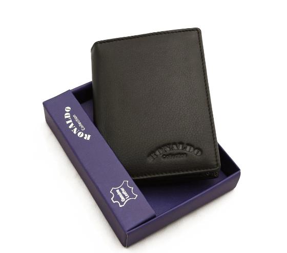 Мужской кошелек Ronaldo  из натуральной кожи (Италия) код  340