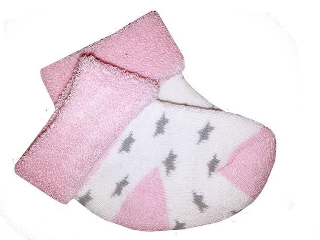 Носочки теплые махровые Biedronka  0-3 мес (розовый), фото 2