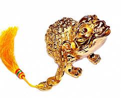 9180004 Жаба богатства металлическая в золотом цвете
