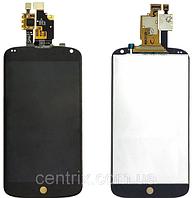Дисплей (экран) для LG E960 Nexus 4 + тачскрин, черный, оригинал