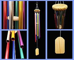 9250018 Поющие ветра 6 трубочек Цветные