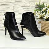 Ботинки кожаные женские демисезонные на шпильке, фото 4