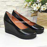 """Женские кожаные туфли на высокой устойчивой платформе. ТМ """"Maestro"""", фото 1"""