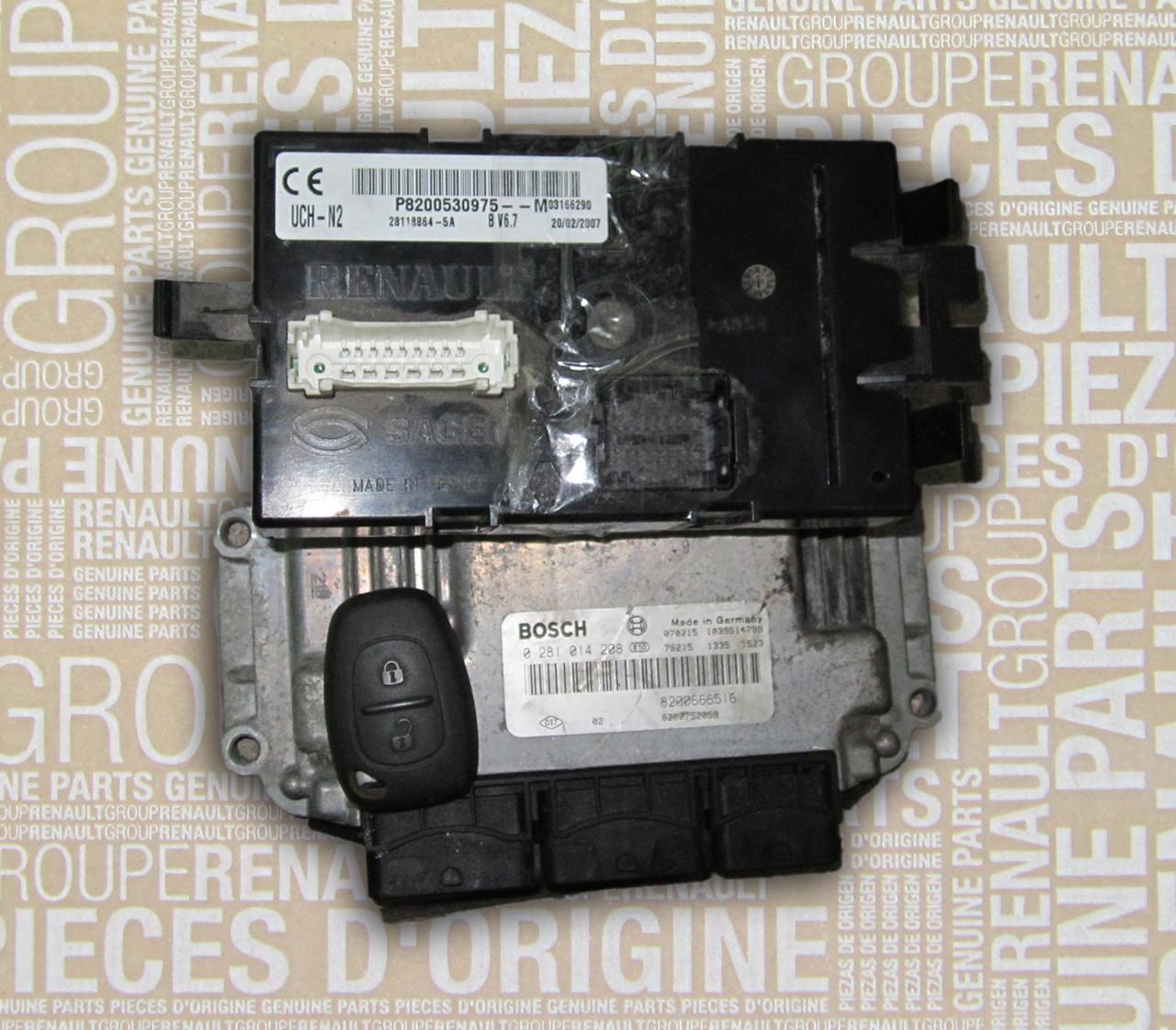 Блок управління двигуном і замками Рено Трафік