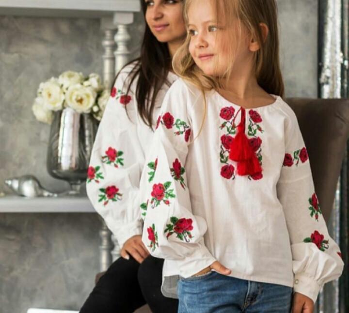 СБ-14. Дитяча Вишита блузка(вишиванка)