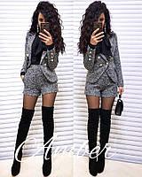 Женский шикарный костюм: пиджак и шорты (рубашка отдельно) (2 цвета), фото 1