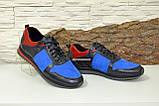 Кросівки чоловічі комбіновані на шнурках, фото 2