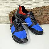 Кросівки чоловічі комбіновані на шнурках, фото 3