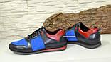 Кросівки чоловічі комбіновані на шнурках, фото 4
