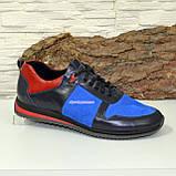 Кросівки чоловічі комбіновані на шнурках, фото 5
