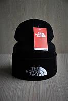 Мужская шапка с отворотом стильная черная , фото 1