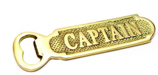 """Открывалка для бутылок бронзовая """"Captain"""" 14 см"""