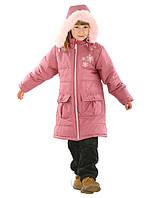 Теплое стеганое пальто для девочек (98, в расцветках), фото 1