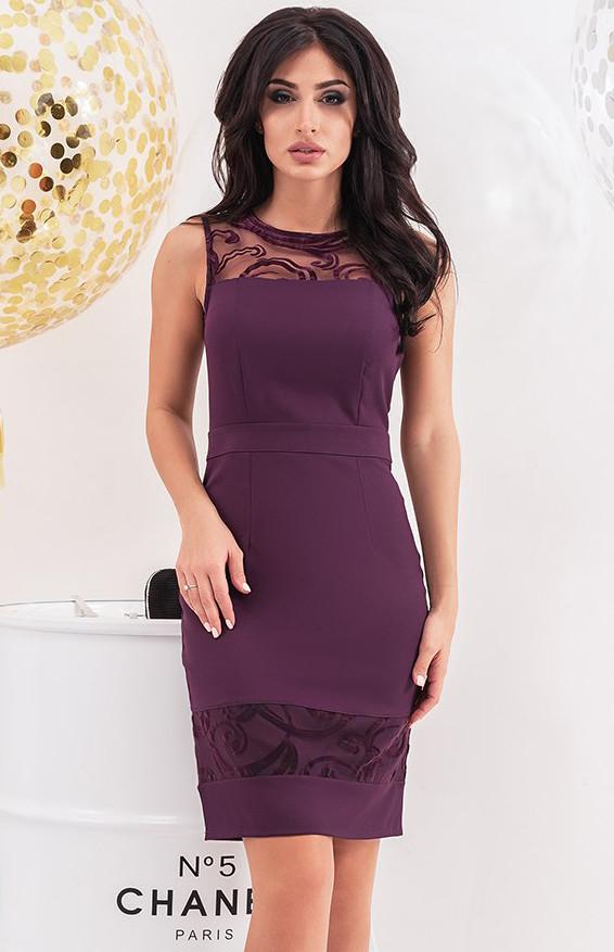 4598f8363d02000 Вечернее платье-футляр сиреневого цвета. Модель 19761. Размеры 42-46 - Irse