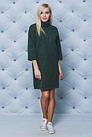 Платье женское под горло зеленое, фото 1