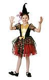 Детский карнавальный костюм для девочки Ведьмочка 110-140р, фото 5