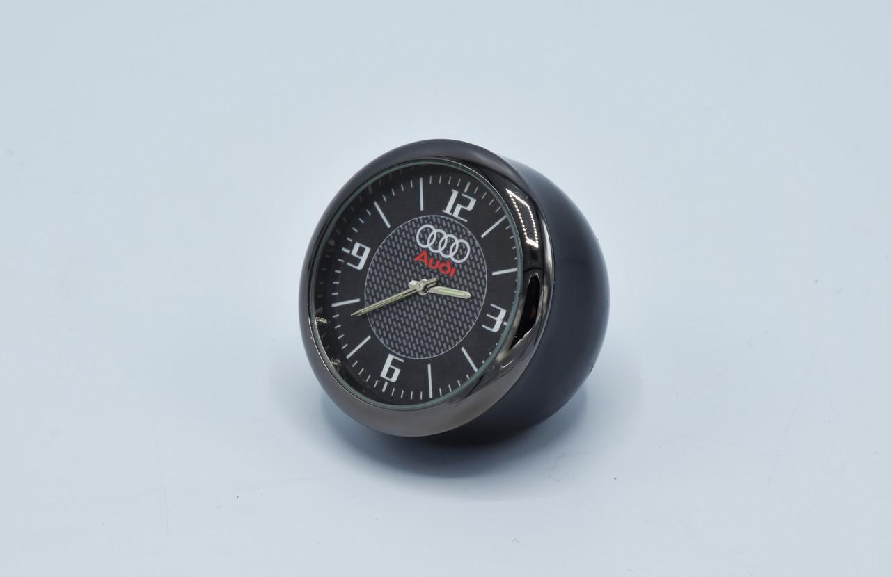 Часы в автомобиль Vehicle clock AUDI, хром/круглые автомобильные часы с маркой авто в Аауди подарок