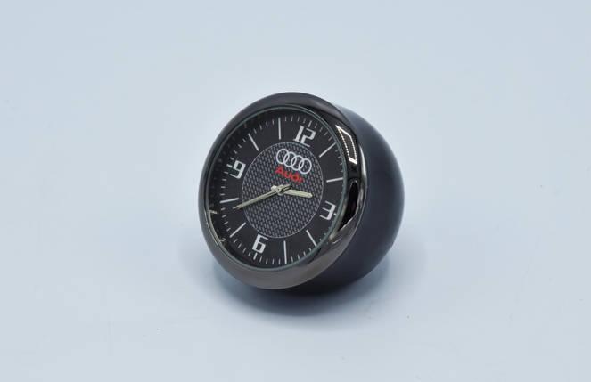 Часы в автомобиль Vehicle clock AUDI, хром/круглые автомобильные часы с маркой авто в Аауди подарок , фото 2