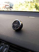 Часы в автомобиль Vehicle clock AUDI, хром/круглые автомобильные часы с маркой авто в Аауди подарок , фото 3