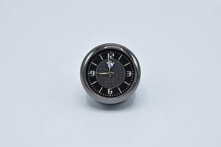Часы в автомобиль Vehicle clock BMW, хром/круглые автомобильные часы с маркой авто в БМВ подарок , фото 2