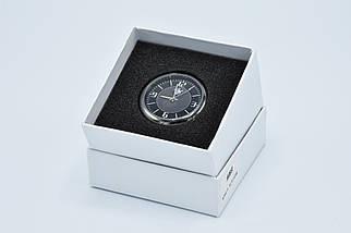 Часы в автомобиль Vehicle clock BMW, хром/круглые автомобильные часы с маркой авто в БМВ подарок , фото 3