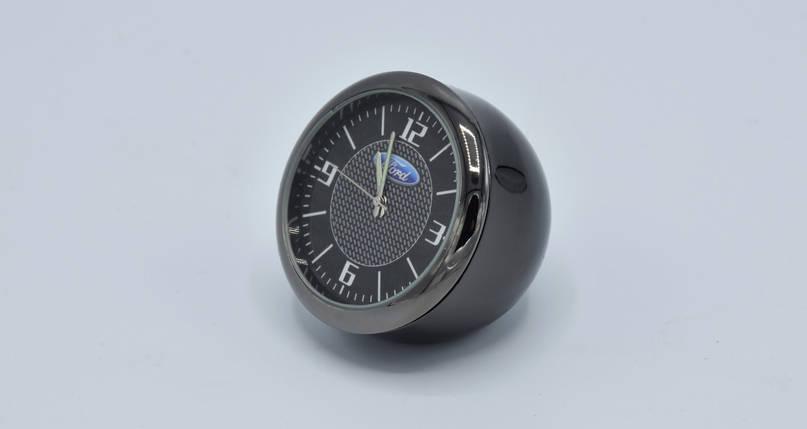 Часы в автомобиль Vehicle clock Ford, хром/круглые автомобильные часы с маркой авто в Форд подарок , фото 2