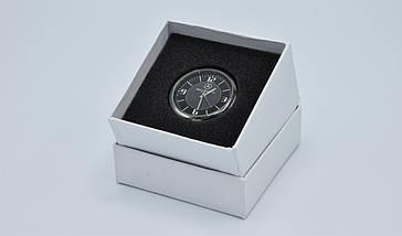 Часы в автомобиль Vehicle clock Mercedes, хром/круглые автомобильные часы с маркой авто в Мерседес подарок , фото 3