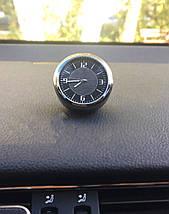 Часы в автомобиль Vehicle clock Mitsubishi, хром/круглые автомобильные часы с маркой авто в Мицубиси подарок , фото 3