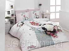 Комплект постельного белья сатин 3d First Choice евро размер Amara