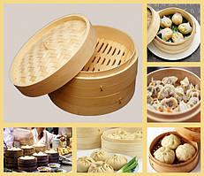 9160237 Китайская бамбуковая паровая пельменница Цзяо Цзы