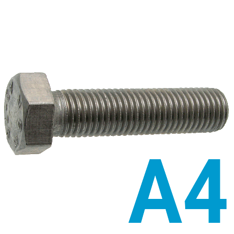 Болт DIN933 А4 нержавеющий М10х50 (50 шт. в уп.)