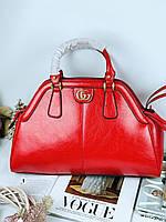 Женская кожаная сумка Gucci большая (реплика), фото 1