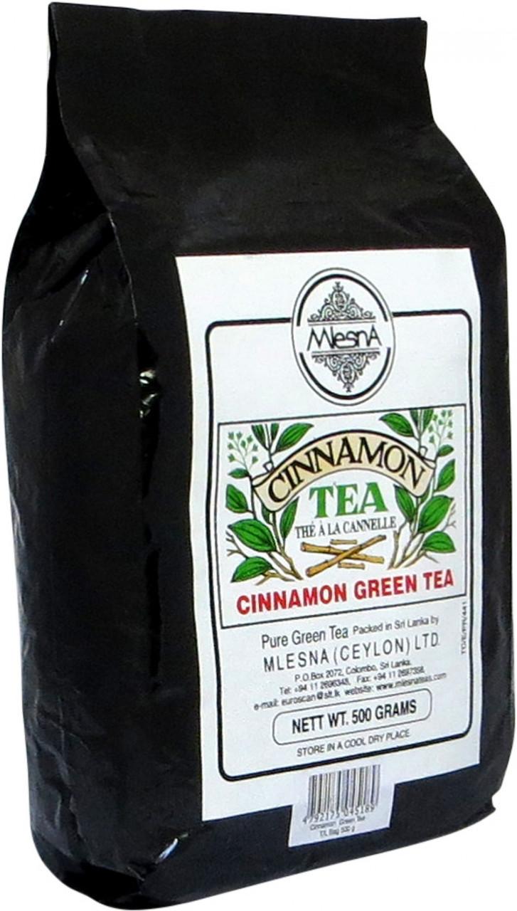 Зеленый чай Корица, CINNAMON GREEN TEA, Млесна (Mlesna) 500г.