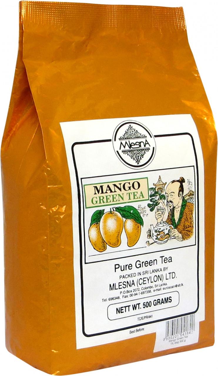 Зелений чай Манго, MANGO GREEN TEA, Млесна (Mlesna) 500г.
