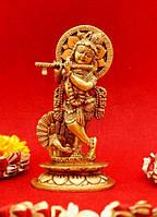 9070029 Статуэтка бронзовая Кришна