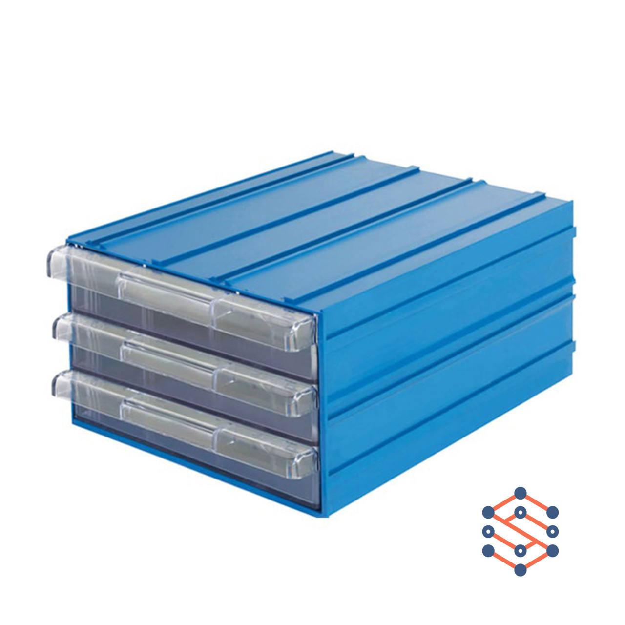 Модульный выдвижной лоток с тремя ящиками 260х340х150 мм