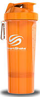 Шейкер SmartShake Slim NEON Orange 500 ml