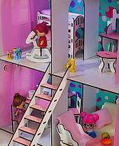 Кукольный Домик для Lol Little Fun maxi + обои + мебель + текстиль + дворик, фото 3